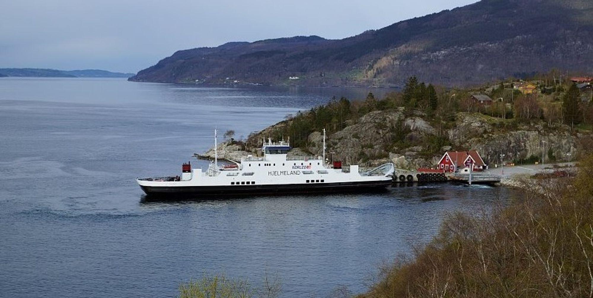 Fergen MF Hjelmeland vil fra 2021 erstattes av en hydrogendrevet ferge.