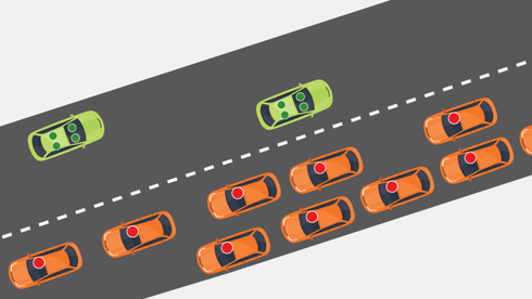 Undersøkelser: Før de selvkjørende bilene overtar helt, kommer de til å skape kø