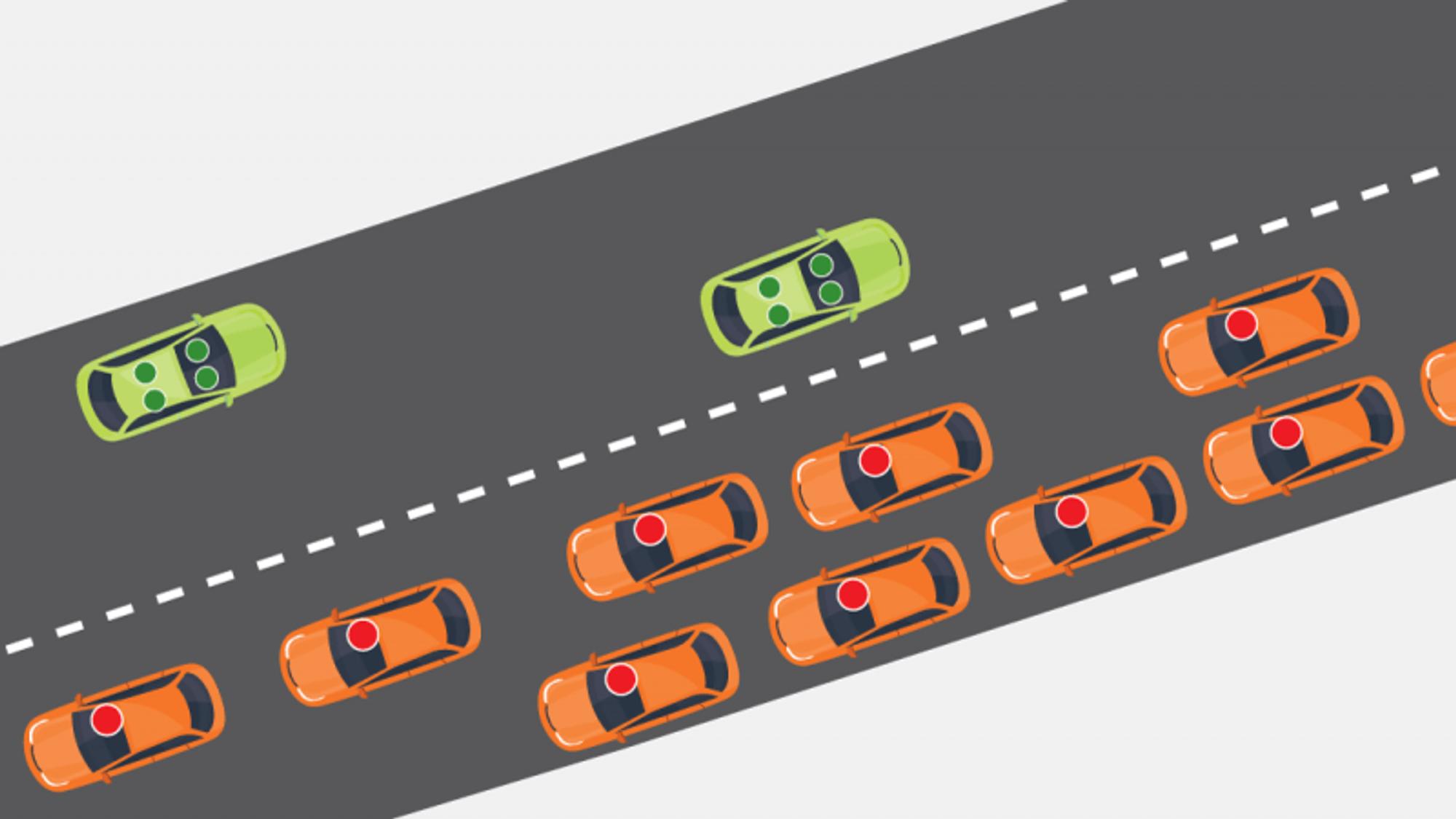 Med selvkjørende og vanlige biler sammen på veien, vil vi få nye trafikale utfordringer, viser undersøkelser gjort av Cowi.
