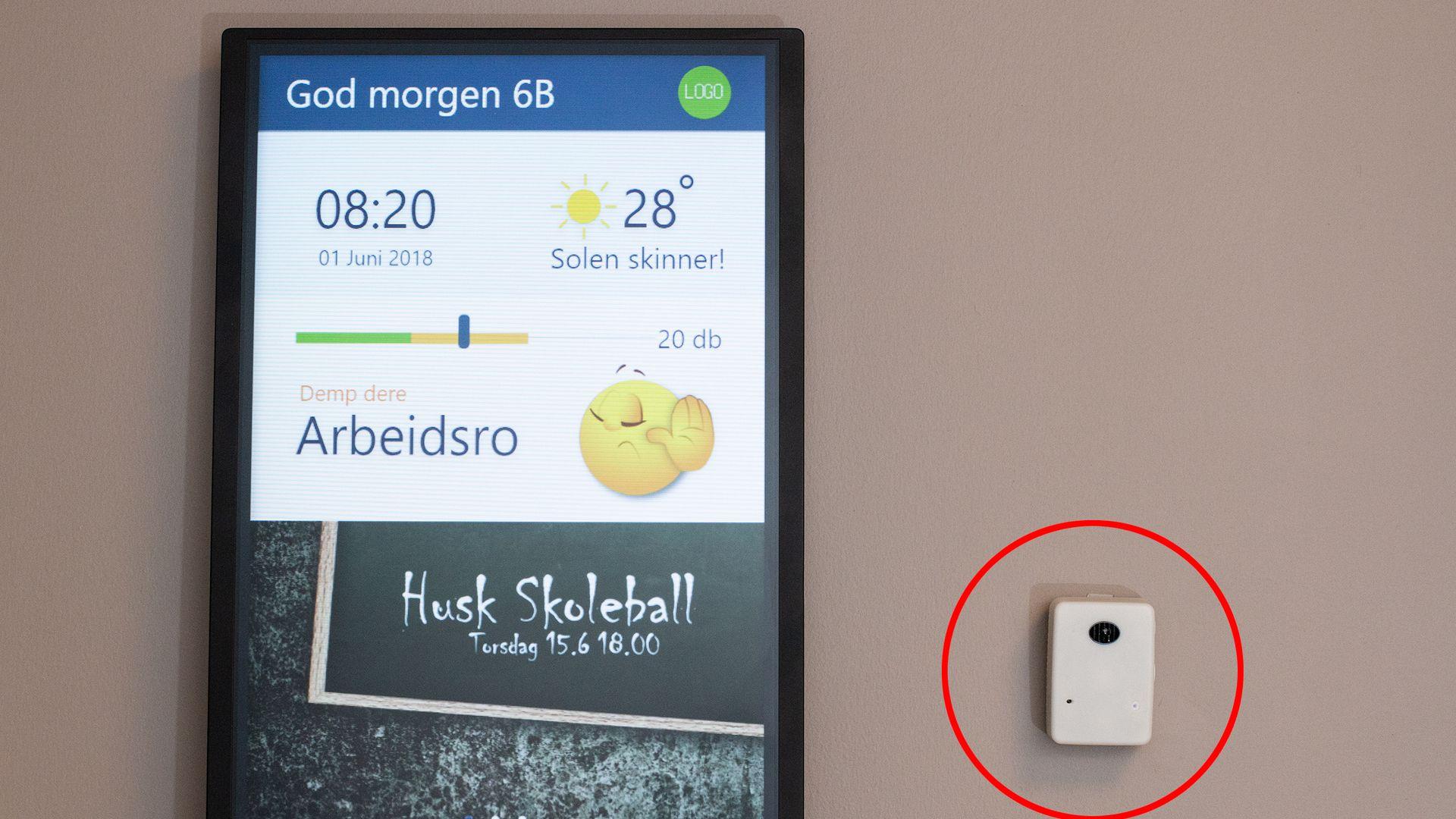 ANNONSE: Kan denne sensoren skape et bedre miljø i klasserommet?
