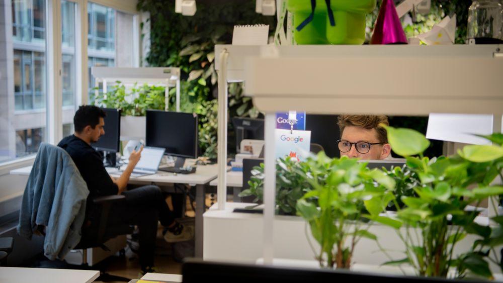 Well er en sertifiseringsordning for kontorbygg, som fokuserer på de ansattes opplevelse av bygget. Ennå er ingen norske bygg Well-sertifisert. Bildet er fra Googles kontorlokaler i Oslo.