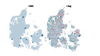 Danmark har gått fra 14 kullkraftverk til 6200 vindmøller, men har fortsatt et kraftnett i toppklasse