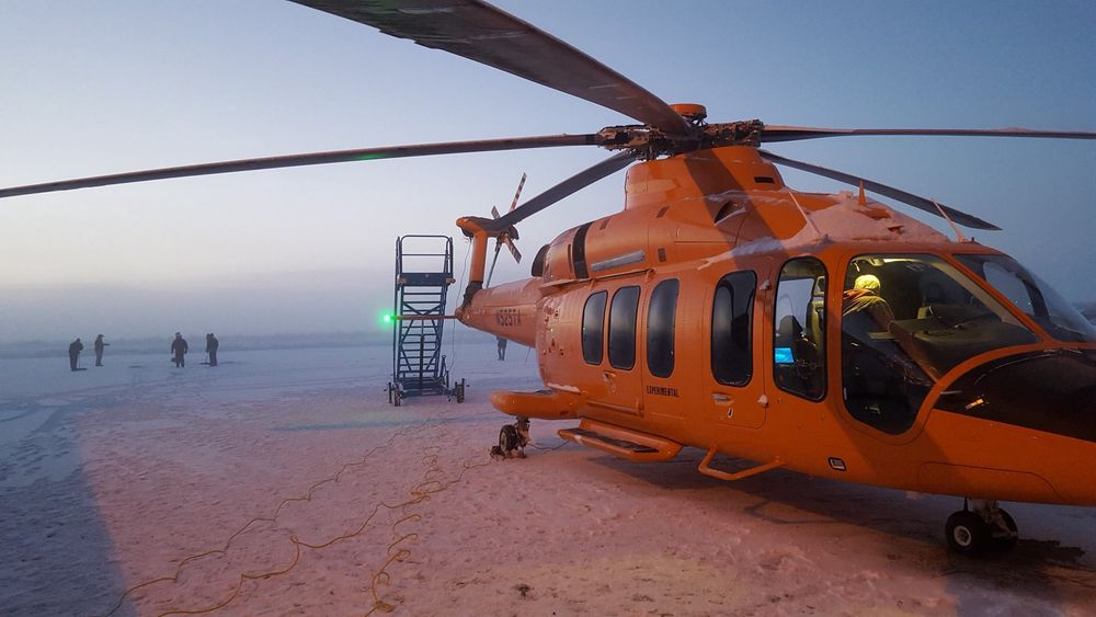 Bell har fire 525 Relentless-helikoptre som brukes til testing.