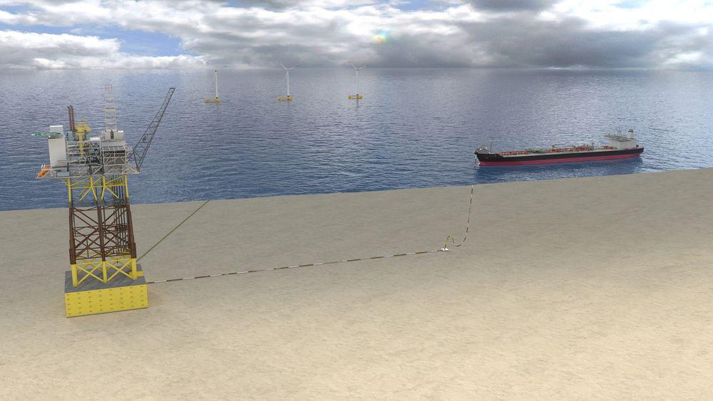 Slik ser Repsol for seg gjenbruk av Gyda-plattformen på et annet oljefelt i Nordsjøen.