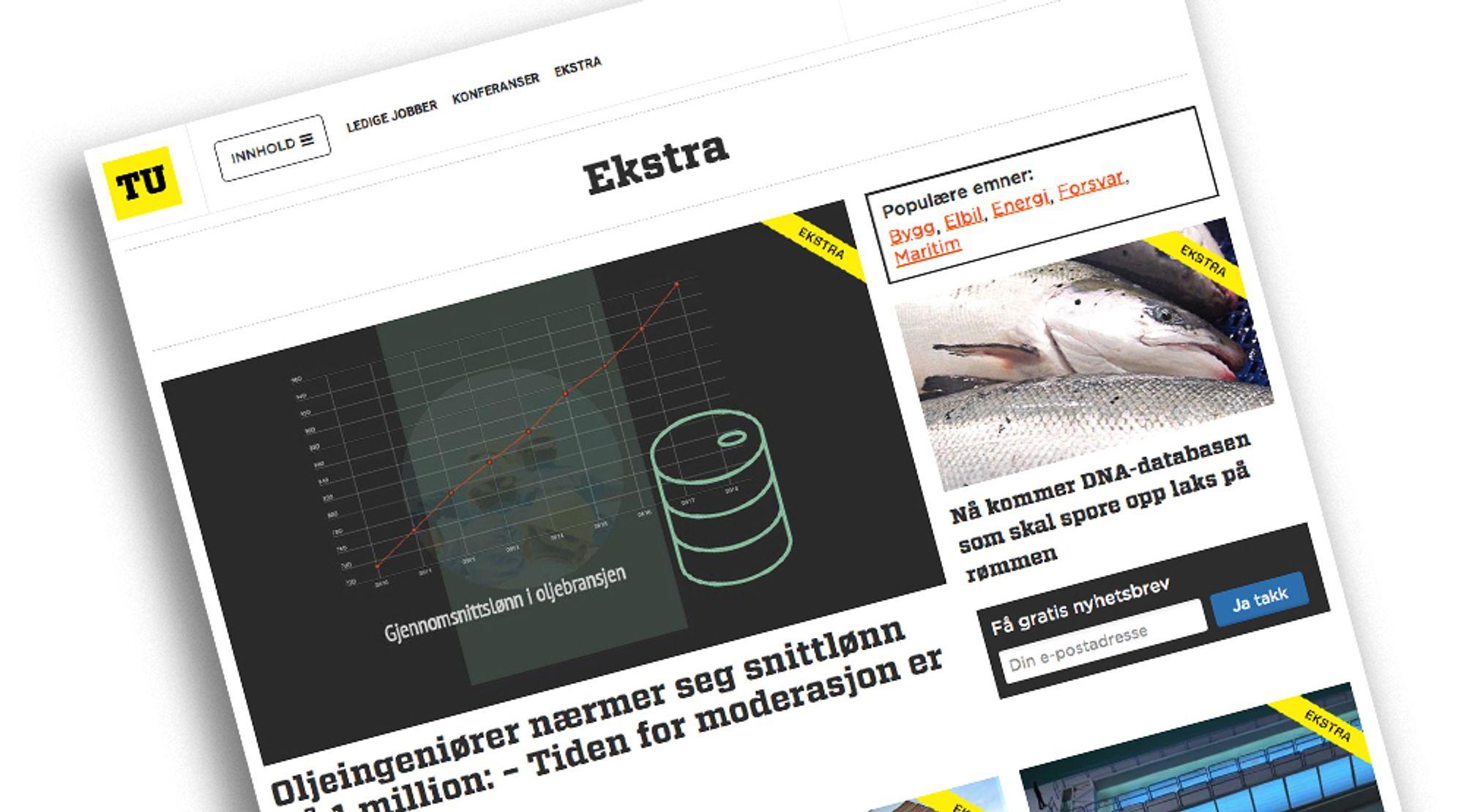 Fra og med mandag 10. desember får abonnenter av TU Ekstra tilgang til fire eksklusive artikler om dagen, unntatt i ferier og høytider.