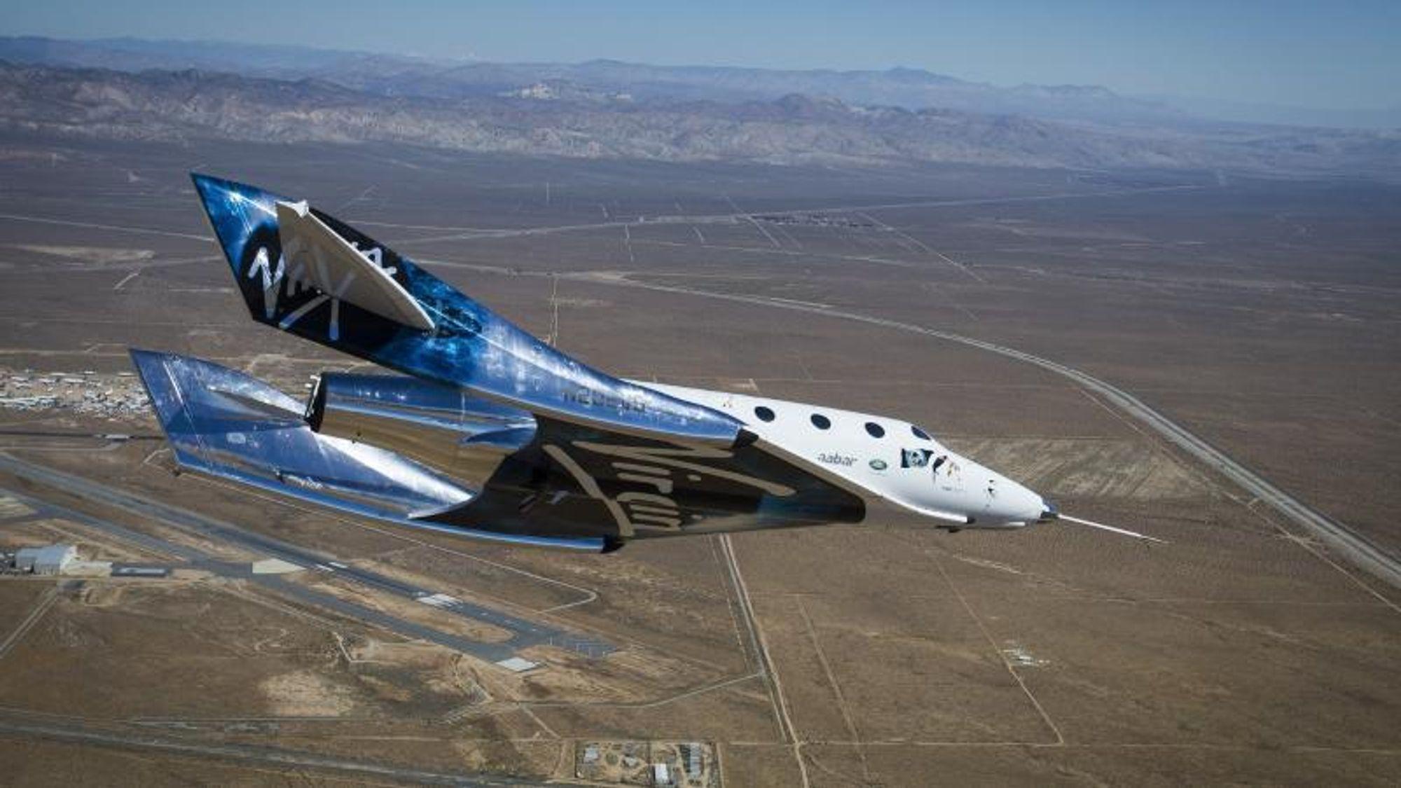 Virgins grunnlegger, milliardæren Richard Branson, har nå kunngjort at romflyet hans – USS Unity – blir det første til å sende turister ut i rommet.