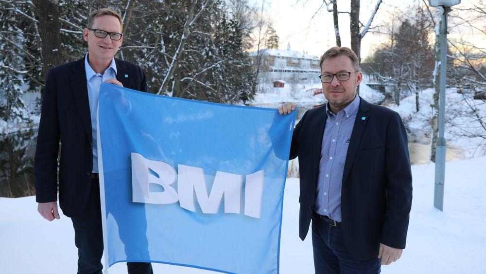 I-en i navnet tilhører Icopal: Braas Monier Icopal Group. Selskapet skal profileres over hele Europa som BMI, sier Håkan Magnusson og Jørn Davidsen i BMI Norge.