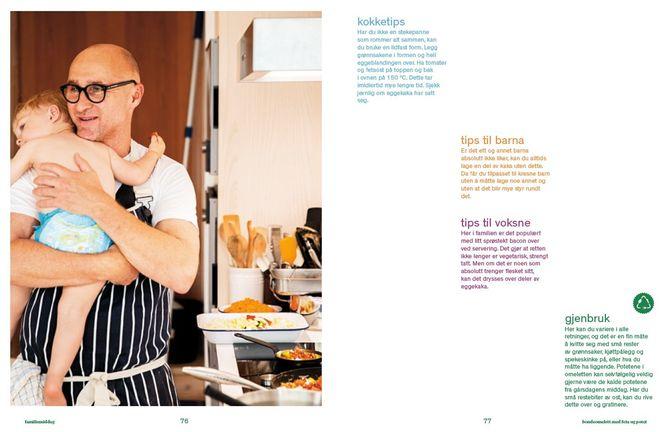 Boken inneholder både oppskrifter og tips til store og små kokker.