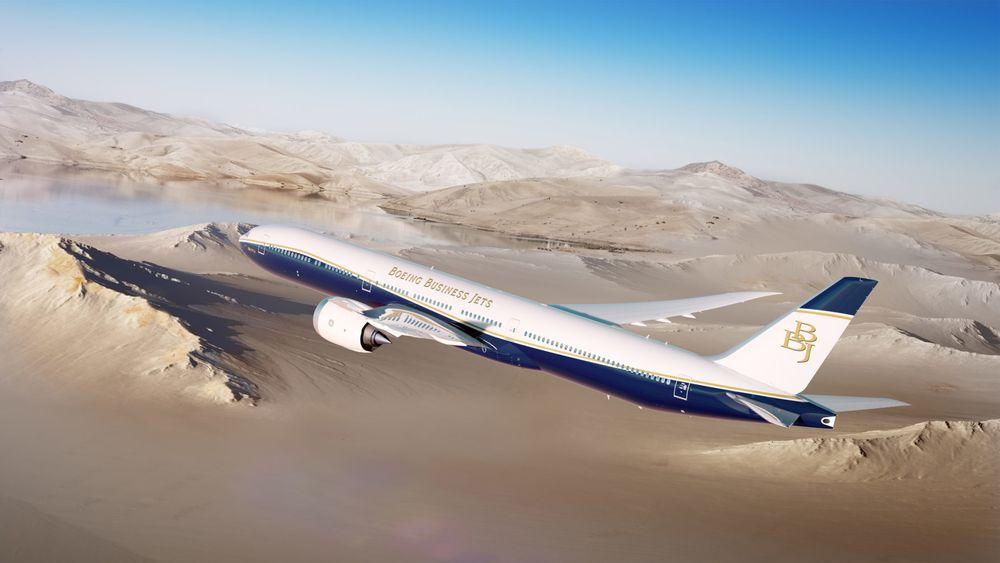 Boeing Business Jets lanserte BBJ 777X i Dubai mandag.