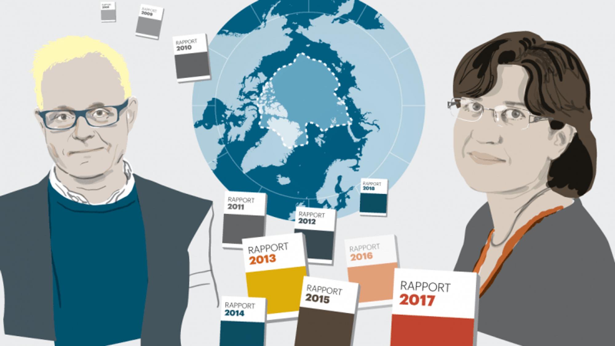 Danske Sebastian Mernild og franske Valérie Masson-Delmotte er to av mange hovedforfattere til en sjette hovedrapport fra FN's klimapanel, IPCC, som skal komme i 2021.