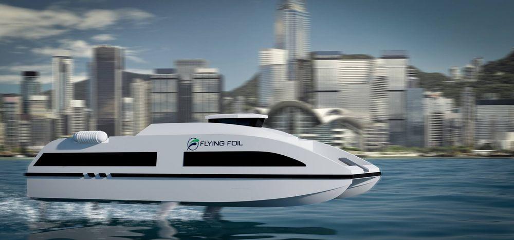 Flying Foil slik de ser for seg en fullskala hurtigbåt.