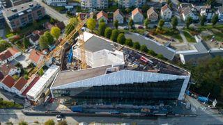 Finansparken i Stavanger Sparebank 1 SR-banks nye hovedkontor i massivtre (CLT)