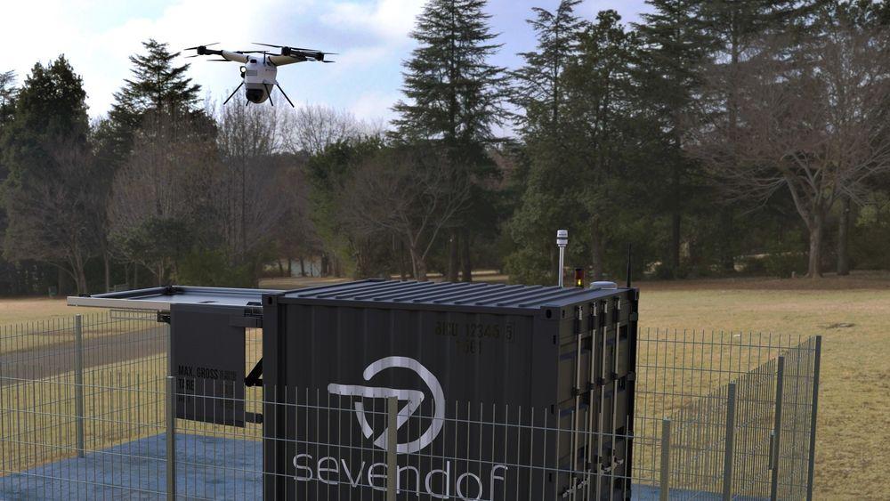 DRONENETTVERK: Slike bakkestasjoner for autonome droner kan bli et vanlig syn i årene framover.