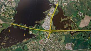 Bredden på nye motorveier kan blir redusert med inntil 2,5 meter