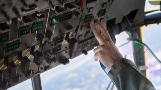 Instrumentpanel i fly