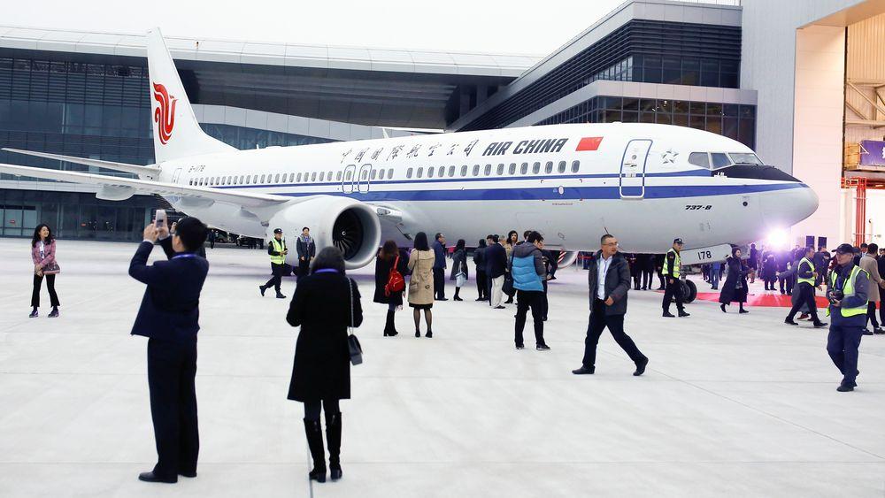Air Chinas nye B737-8 ble levert lørdag - fra Boeings nye produksjonsanlegg i Zhoushan i Kina.