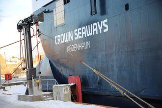 Her er landstrømpluggen fra Cavotec ved Oslo Havn. DFDS-fergen Crown Seaways er den siste som kan benytte landstrøm. Fergen skal i dokk i januar 2020 og vil da samtidig bygge om tavler og installere plugg.