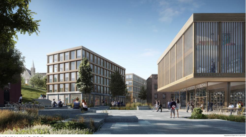 NRK vurderer å flytte sammen med NTNU på Gløshaugen etter rundt 30 år på Tyholt. Avdelingen på Tyholt er NRKs største utenfor Marienlyst i Oslo. Dette er vinnerforslaget i arkitektskonkurransen om nytt NTNU-campus. Arkitektene i Koht Arkitekter står bak bidraget.
