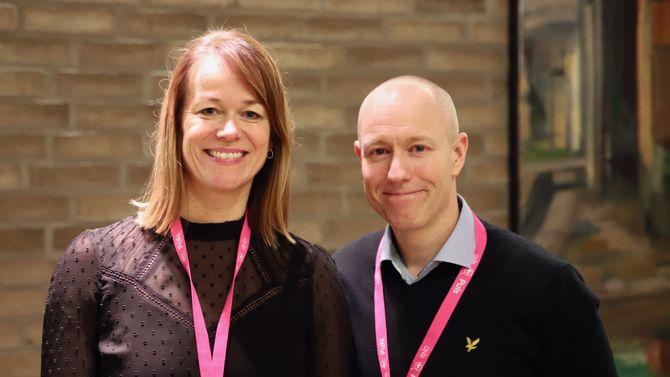 Kjersti Høklingen og Tom Fredrik Lehrmann.