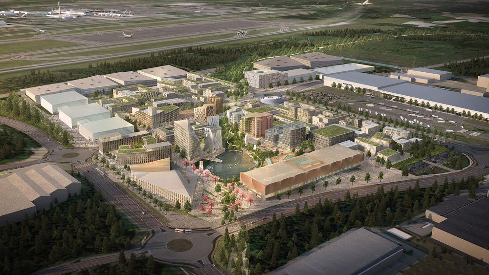 Det skal gå an å ferdes også utenom kurs og konferanser i den nye flyplassbyen på Gardermoen.