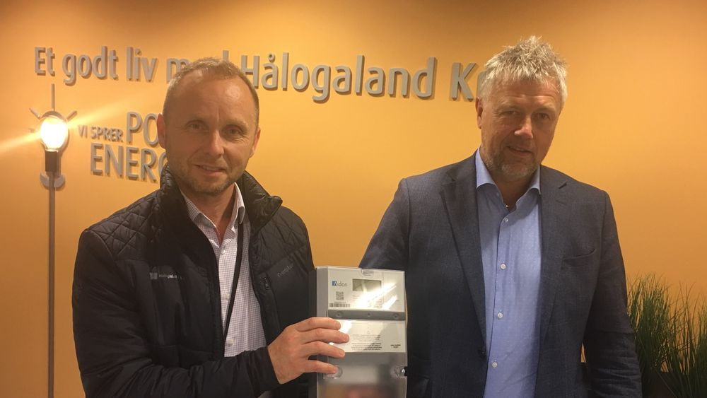 Administrerende direktør i Hålogaland Kraft,Rolf Inge Roth og daglig leder i Hålogaland Kraft Nett, Sture Hellesvik, vil se på mulighetene for å påklage gebyret fra NVE.