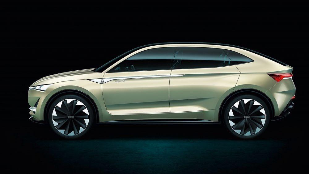 Skoda Vision E er en av bilene du vil kunne tegne deg på venteliste for neste år.