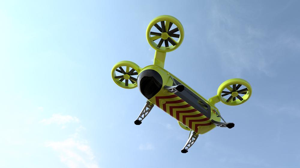 I USA kommer dronetaxi for opptil fire passasjerer innen fem år.