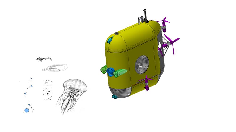 Med mesoboten skal forskerne forsøke å få svar på hvor mye karbon smådyr i havet tar med ned i dypet.