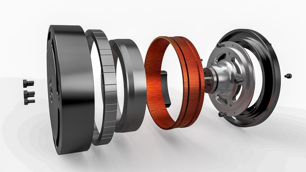 Den svært kobberrike statoren kan være med på å revolusjonere elmotoren, tror et nytt selskap i Trondheim. Denne motoren har en såkalt dobbelrotor med en del på innsiden og magnetene på utsiden av statoren.