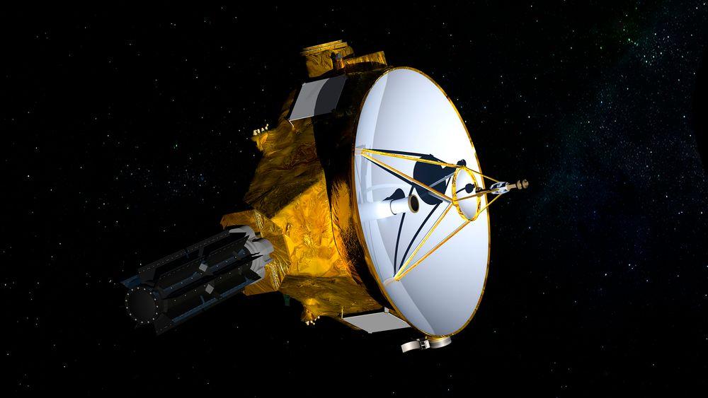 Illustrasjon av romsonden New Horizons.