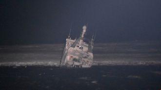 Tråleren grunnstøtte fredag 28. desember 2018 i Kinnvika på Nordaustlandet på Svalbard. Alle de 14 om bord ble reddet med helikopter i en dramatisk redningsaksjon.