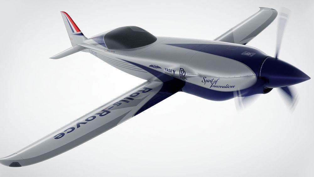 Fly med Rolls-Royce motor satte fartsrekord for sjøfly i 1931. Nå vil de sette fartsrekord for elfly, med dette nyutviklede flyet.
