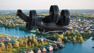 Her er Bells futuristiske flytaxi med hybriddrift
