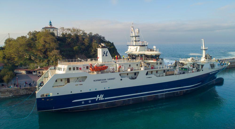 Slaktebåten Norwegian Gannet.
