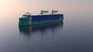 Hydrogendrevet containerskip skal seile mellom Polen og Norge