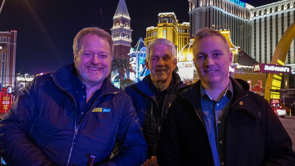 I VEGAS: Jan Moberg, Odd Richard Valmot og Svein-Erik Hole.