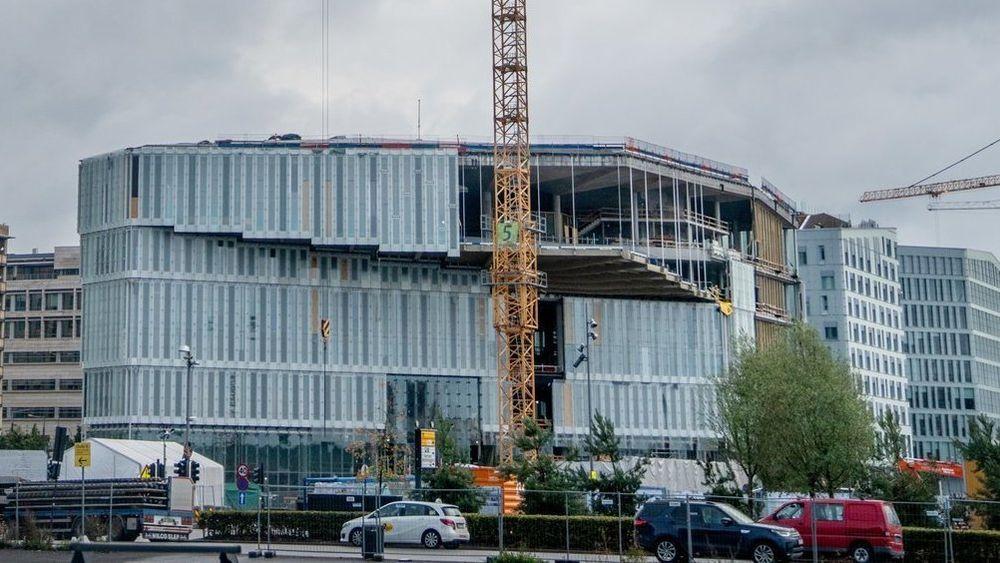 Oslo kommune har gitt Atlant Entreprenør mye av skylden for at det nye hovedbiblioteket i Oslo er forsinket. Dette bildet er fra september 2018.