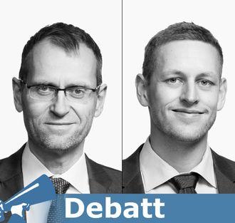 Advokat Kristian Foss (til venstre) og advokatfullmektig Anders A. Christie i Bull & Co Advokatfirma. Portrettbilder.