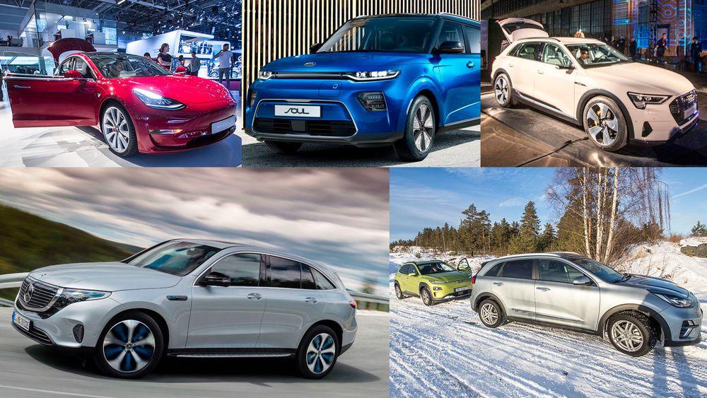 Det kommer mange nye elbiler på markedet i 2019.