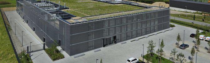 Datasenteret LuxConnect DC 2 har gress på taket.