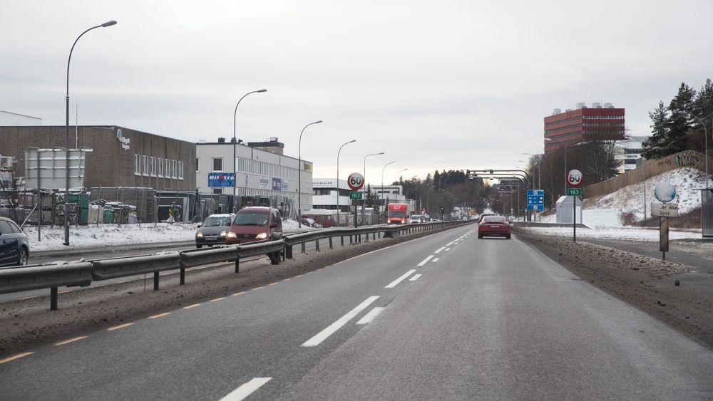 Østre Aker vei mellom Økern og Stovner er en av strekningene med miljøfartsgrense.
