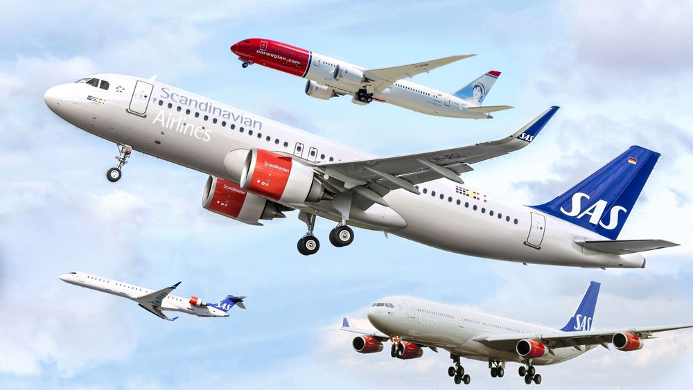 SAS-flyene A320 Neo, CRJ900, A340-300 og Norwegian-flyet B787-9 er blant flytypene som aldri har vært involvert i ulykker som har krevd liv.