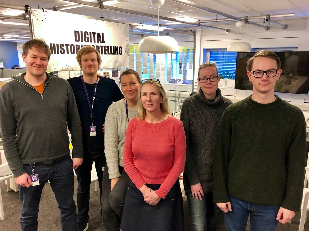 bf413e0a Deler av teamet som står bak nettsuksessen om Mats. Fra v: grafiker Andre  Håker