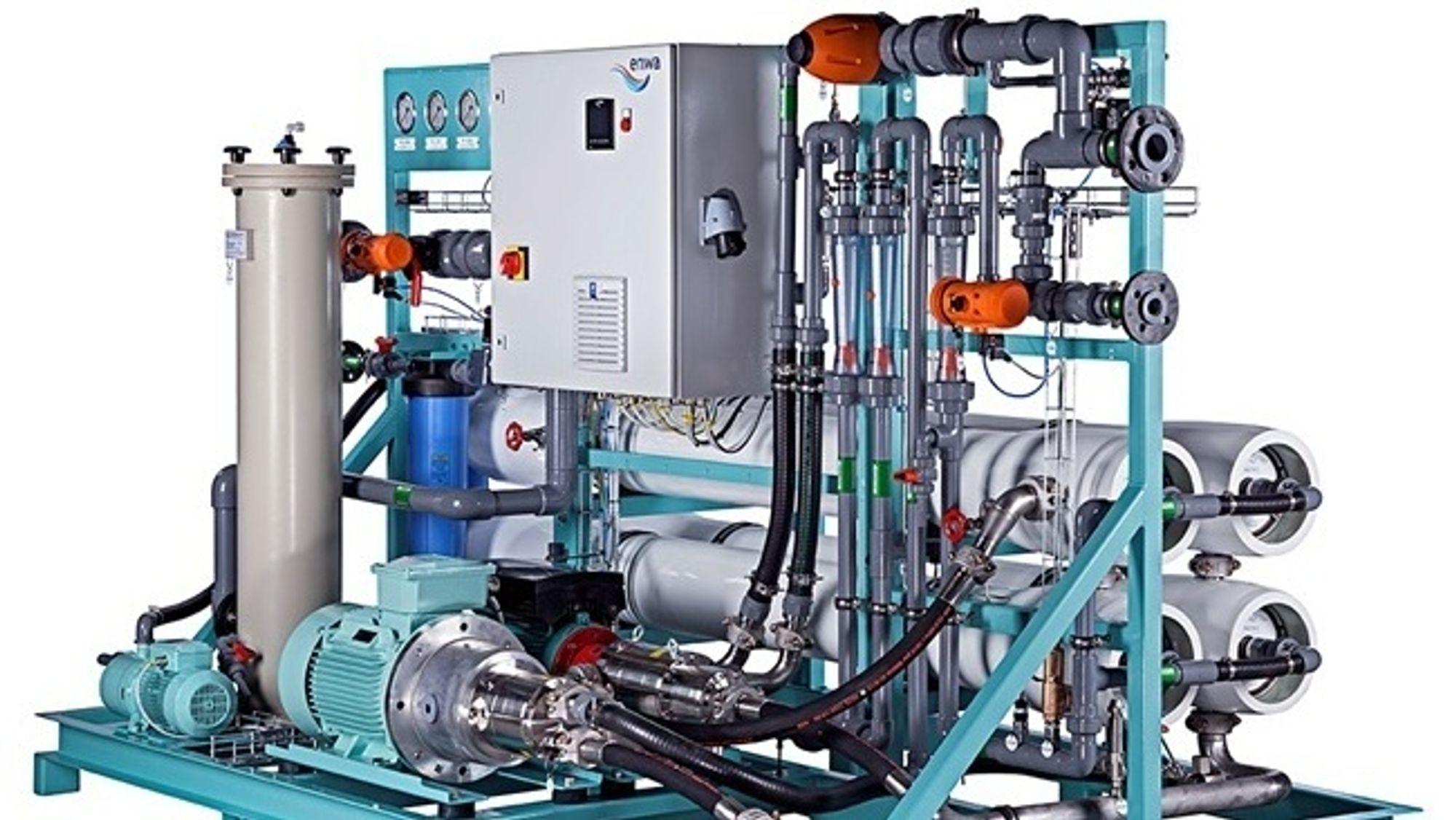 Filtreringsanlegget som skal testes ut hos Hardingsmolt er av samme type som på bildet, men vesentlig større.