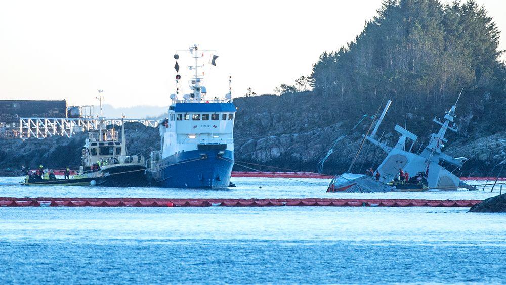 Statens havarikommisjon har bedt Kripos om hjelp til å sikre data fra den havarerte fregatten KNM Helge Ingstad.