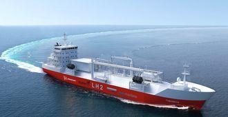 Bunkersskip for flytende hydrogen (LH2 - liquefied hydrogen) er utviklet av Moss Maritime, Wilhelmsen, DNV GL og Equinor.