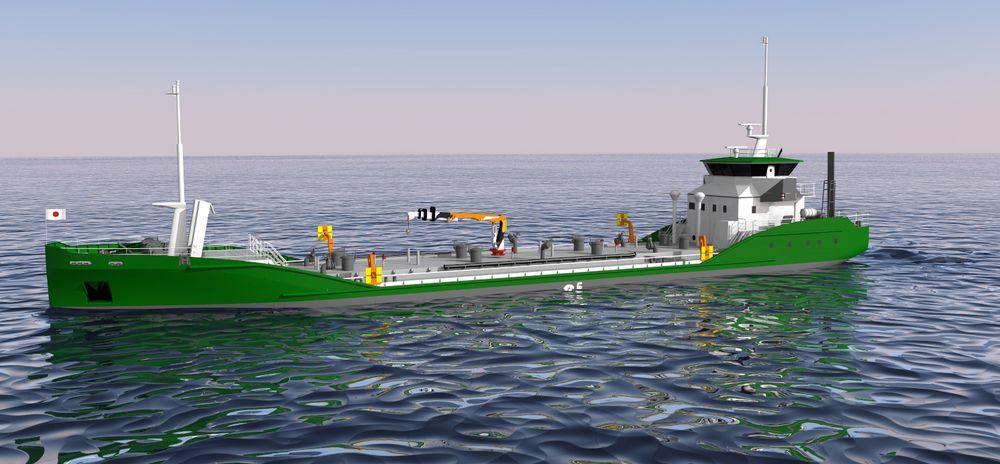 Asahi Tanker/ Exeno-Yamamizu har utviklet «e5»-konseptet, i utgangspunktet med tanke på bruk i Tokyo Bay.