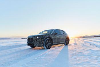 BMW iNEXT vintertestes i Arjeplog i Sverige.