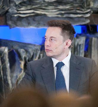 Teslas Elon Musk under et besøk i Oslo.