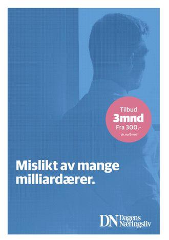 Dagens Næringslivs annonse i Klassekampen.